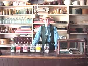 a typical storekeeper in his stores